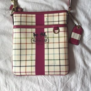 Coach leatherware purse with long strap